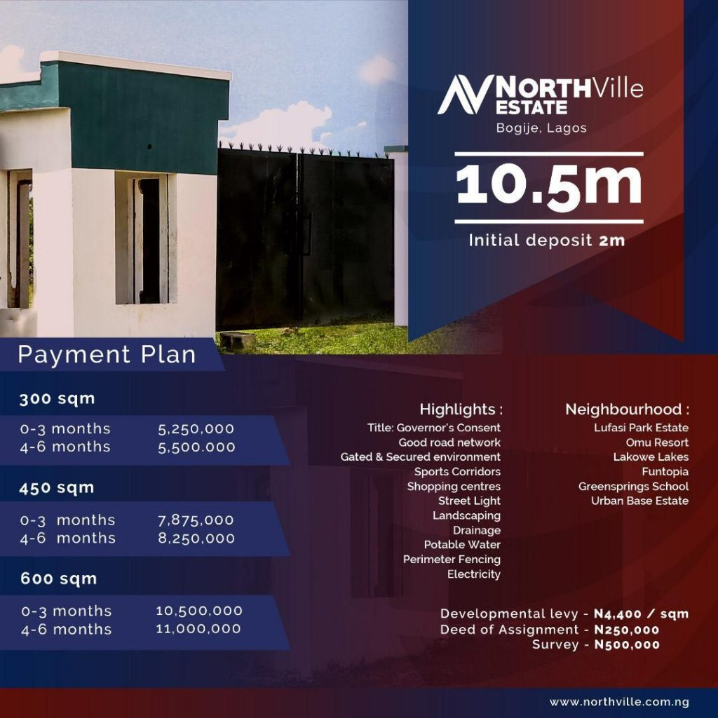 Northville estate Ibeju Lekki. Lagos, Nigeria